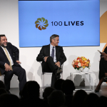 Ruben Vardanyan, George Clooney and Gwen Ifill